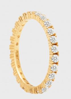 Серебряное кольцо P D Paola Aisha Naomi с позолоченной отделкой, фото