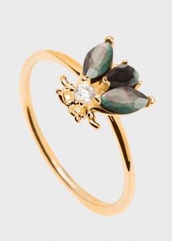 Тонкое кольцо P D Paola Zaza из позолоченного серебра, фото