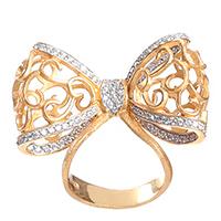 Позолоченное кольцо Misis Bon Ton в виде банта, фото