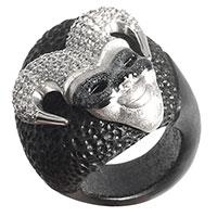 Серебряное кольцо Misis Казанова с цирконами, фото