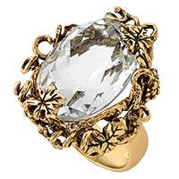 Перстень Misis Champagne с крупным обсидианом, фото