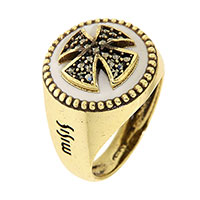 Перстень Misis Artificialia с марказитами, фото