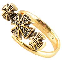 Женское кольцо Misis Artificialia с тремя мальтийскими крестами, фото