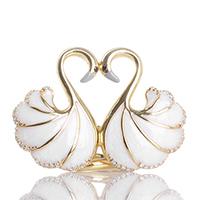 Кольцо Misis Mirabilia Лебедь с цирконами, фото