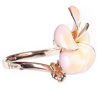 Кольцо тонкое Misis Everglades с эмалевым цветком, фото