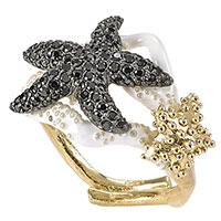Перстень Misis Moorea с черными фианитами, фото