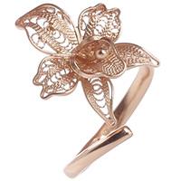 Женское кольцо-кафф Marisol с цветком, фото