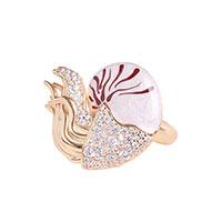 Серебряный перстень Misis Giava с позолотой и цирконами, фото