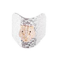 Перстень Misis Sumatra из серебра с позолотой, фото