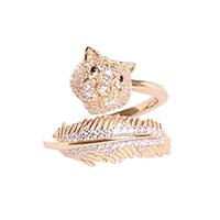 Двойное кольцо Misis Sumatra с тигром, фото