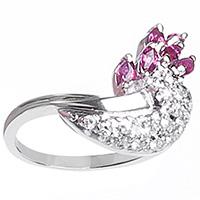 Женское кольцо David Brodsky Грона с рубинами, фото