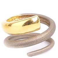 Двойное кольцо Marcello Pane с позолотой, фото
