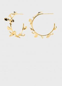 Серебряные серьги P D Paola Blossom Lily с отделкой из позолоты, фото