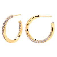 Серьги-кольца P D Paola Cavalier с цирконами лавандового цвета, фото