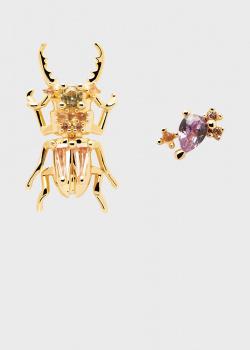 Серьги P D Paola House Of Beetles Courage Beetle, фото