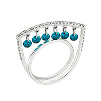 Кольцо Roberto Bravo Salsa с голубыми бриллиантами , фото