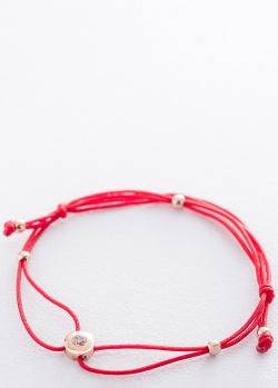 Золотой браслет с красной нитью, фото