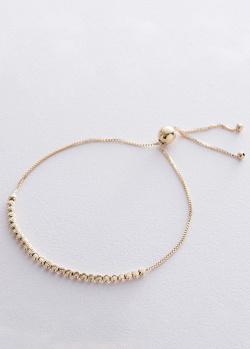 Шариковый браслет из желтого золота, фото