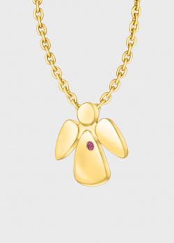Подвеска с цепочкой Art Vivace Jewelry Bу my angel с рубином, фото