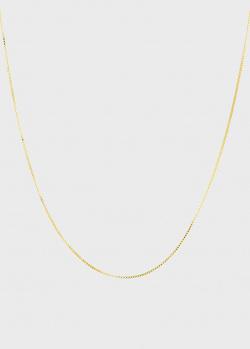 Тонкая цепочка Crystal Haze Box Chain с отделкой из позолоты, фото