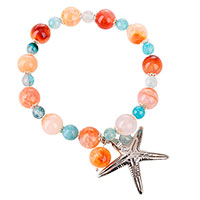 Браслет с посеребренной морской звездой Ester Bijoux, фото