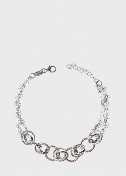 Серебряный браслет Fraboso с многослойными кольцами, фото