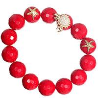 Красный браслет Misis Море с цирконием, фото