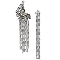 Серьги-цепочки Fabiana Filippi с искусственными кристаллами, фото