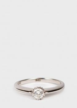 Золотое кольцо Ponte Vecchio с бриллиантом 0,3 карат, фото