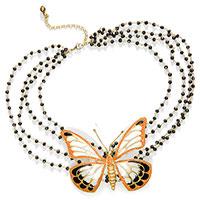 Колье Misis с крупной бабочкой и ониксами, фото