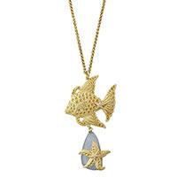 Цепочка с кулоном Misis Sipadan с рыбкой и морской звездой, фото