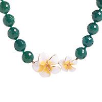 Ожерелье Misis Everglades с зеленым агатом, фото