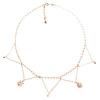 Серебряное ожерелье Misis Sumatra с позолотой и цирконами, фото