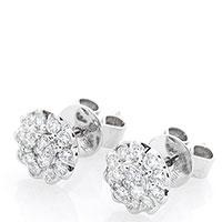 Серьги-пусеты из золота с бриллиантами, фото