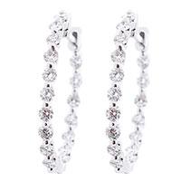 Серьги-кольца Оникс с бриллиантами, фото