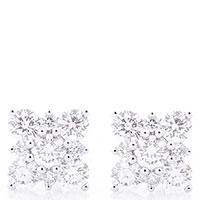 Серьги-пусеты в форме снежинок, фото