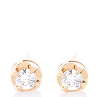 Серьги Оникс из желтого золота с бриллиантами, фото
