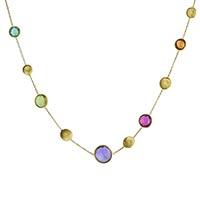 Золотое ожерелье Marco Bicego Jaipur с круглыми разноцветными камнями, фото
