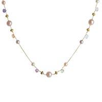 Тонкое ожерелье Marco Bicego Paradise с цветными камнями, фото