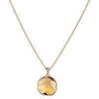 Цепочка с желтым кулоном Marco Bicego Delicati с бриллиантами и крупным цитрином, фото