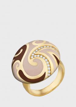 Перстень из желтого золота Gratus Coco Chanel с бриллиантами, фото