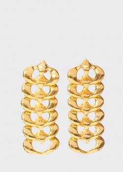 Крупные серьги Misho Interlink в виде каскада из колец, фото