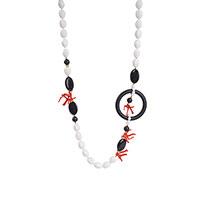 Ожерелье MasMas с кораллом и ониксом, фото