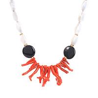 Ожерелье MasMas с ониксом, агатом и кораллом, фото