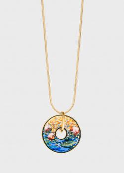 Цепочка Freywille Luna Piena Orangerie Клод Моне с круглой подвеской, фото