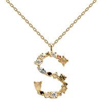 Ожерелье P D Paola I AM с буквой S, фото