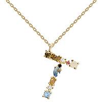 Ожерелье P D Paola I AM с кулоном в виде буквы, фото