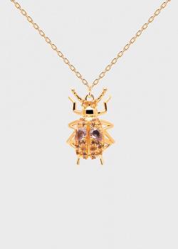 Колье-амулет P D Paola House Of Beetles Wisdom Beetle, фото
