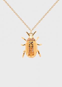 Цепочка с кулоном-амулетом P D Paola House Of Beetles Balance Beetle, фото