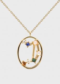 Позолоченое ожерелье P D Paola Zodiac Весы, фото